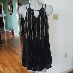 Dresses & Skirts - Black dress with silver sequins and beading size 8